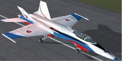 Slovak Air Force F/A-18 for FSX Acceleration