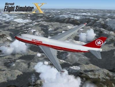 air canada boeing 747 400 circa 1993 for fsx