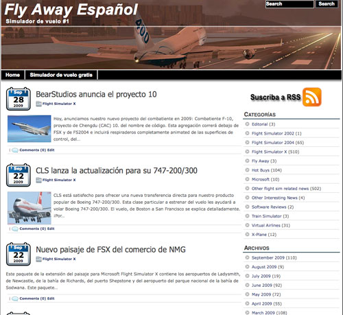 Fly Away in Spanish