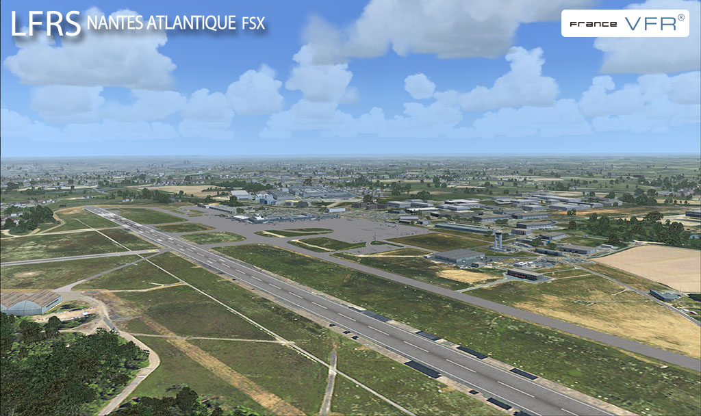 Screenshot of France VFR's LFRS Nantes Atlantique airport in FSX