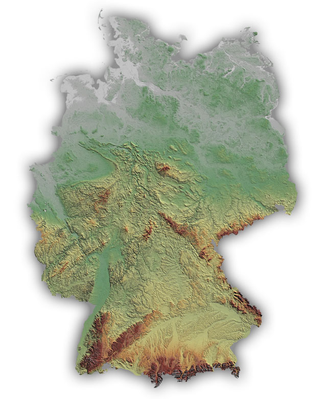 Coverage area of NextMap Germany
