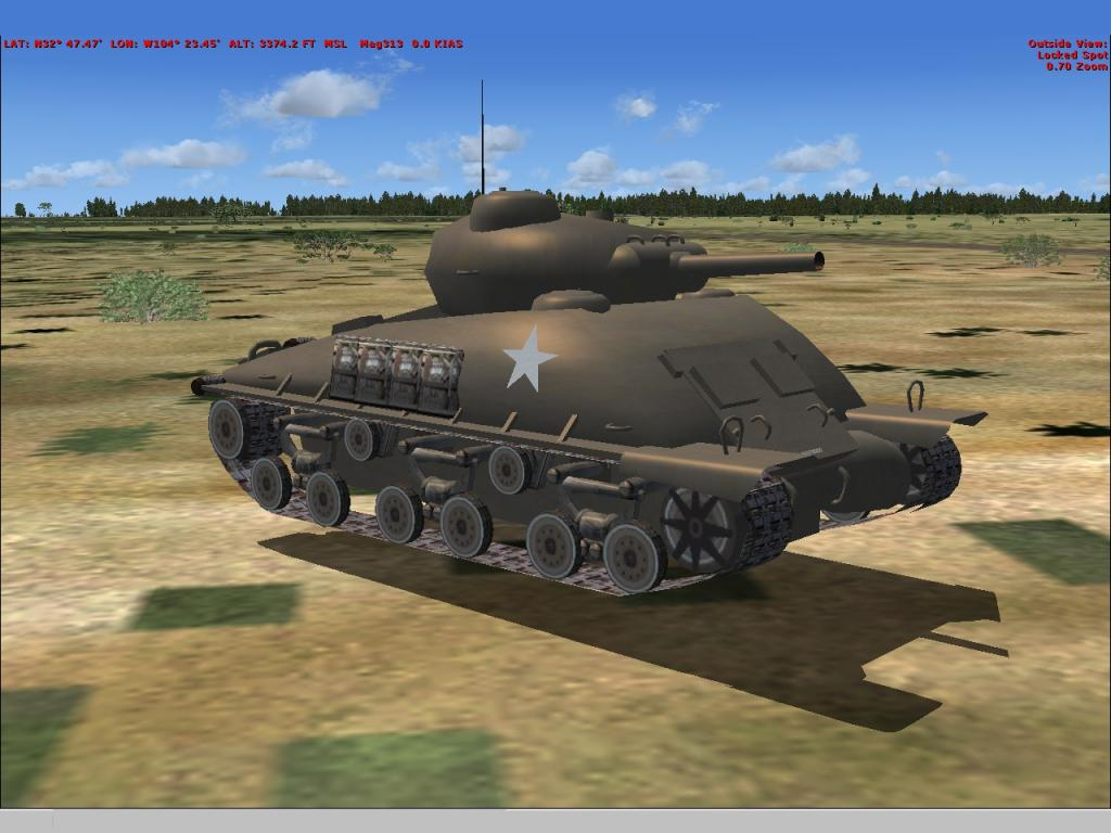 Tank from WWII Pacific Missions by RDJ Simulation