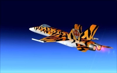 Fictional Tigerskin F/A-18 Hornet for FSX