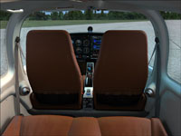 View of front seats from rear