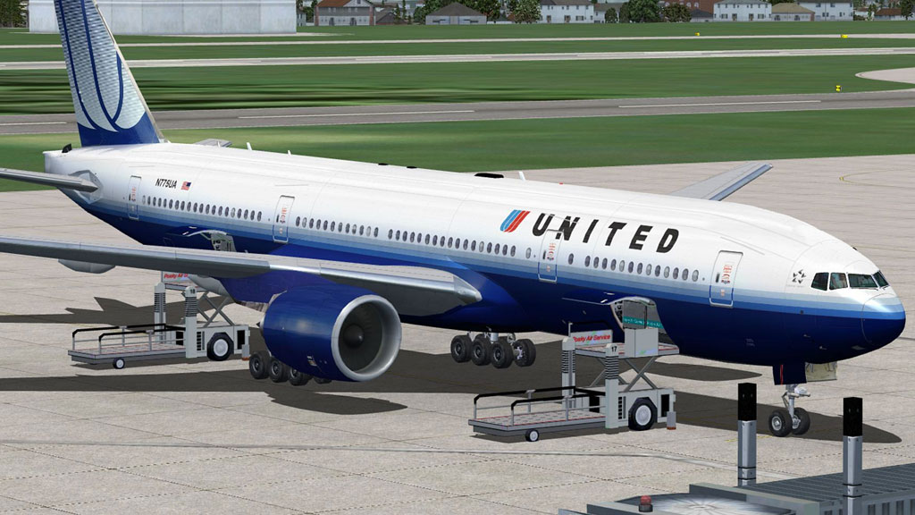 United Airlines Boeing 777-200 for FSX
