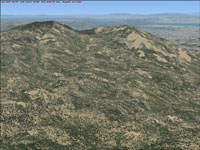 Mount Diablo with default FSX
