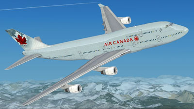 Air Canada 747 in new livery for FSX