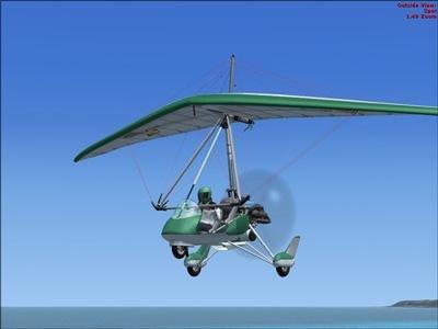 aircreation 582sl green hummingbird for fsx