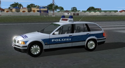 German Police Car for FSX