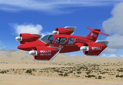 Moller Skycar M400 For Fsx