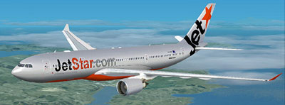 Jetstar Airbus A330-200 in Silver livery for Flight Simulator X