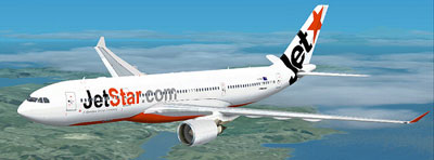 Jetstar A330-200 in white livery for fsx