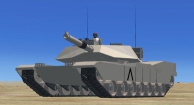 M1A1 Abrams Tank Vehicle for FSX