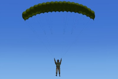 Parachute add-on for Flight Simulator X