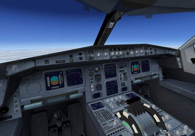 Gulf Air Airbus A340-300 virtual cockpit