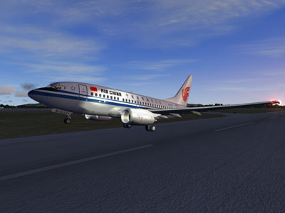 Air China Boeing 737-600 on runway
