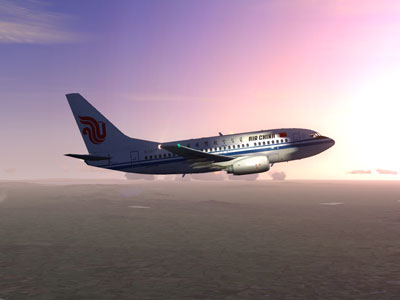 Air China Boeing 737-600 in sunlight