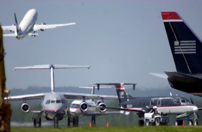 Aircraft traffic and congestion chaos
