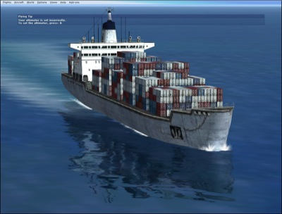 FSX Container Ship add-on