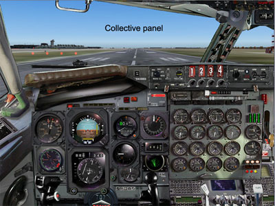 Boeing 707 panel for FS2004