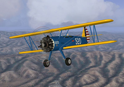Stearman Kaydet blue and yellow