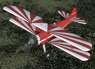 Stearman Kaydet red and white