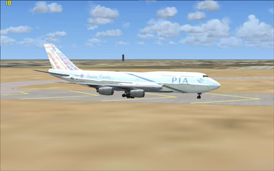 "PIA Boeing 747-300 in ""mountain paradies"" livery"