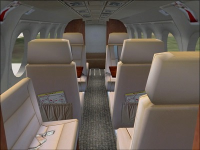 Beechcraft Super King Air 300 cabin