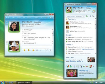Screenshot from Microsoft's Windows Live Messenger