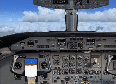 FSX Mexicana Boeing 727-200 panel