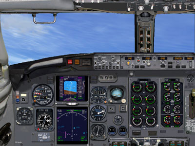 Boeing 757-200 panel