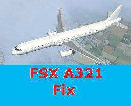 Default A321 for FSX with fixes and updates
