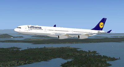 Lufthansa Airbus A340 for FSX