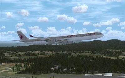 FSX Qatar Airbus A340-600