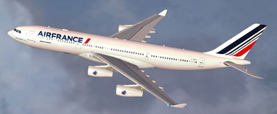 Airbus A340 in Air France Livery for FSX