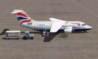 BAe 146-100 on tarmac.