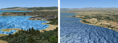 Costa Brava after and before
