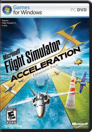 Microsoft Flight Simulator X: Acceleration DVD box