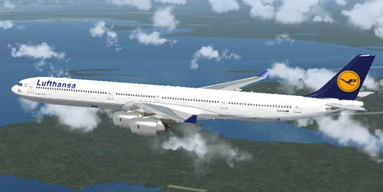 lufthansa airbus a340 600 repaint for fsx. Black Bedroom Furniture Sets. Home Design Ideas