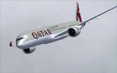 Qatar Airbus A350-900 XWB.