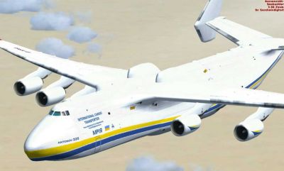 FSX Antonov AN225 in flight.