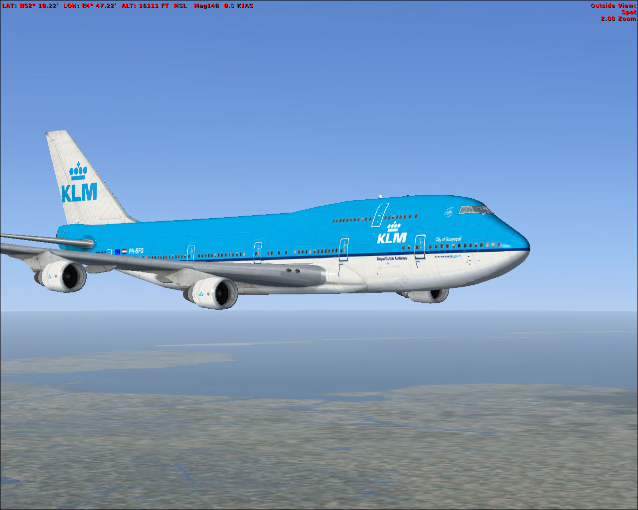 KLM Boeing 747-400 Repaint for FSX