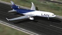LAN Cargo McDonnell Douglas MD-11F taking off.