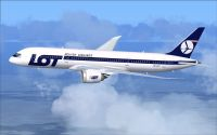 LOT Polish Airlines Boeing 787-8 in flight.