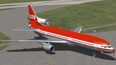 LTU Lockheed L1011 on runway.