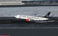 SAS Boeing 737-883 taking off.