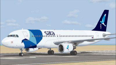 SATA Airbus A320-214 on runway.