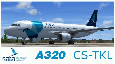 SATA (Fly Azores) Airbus A320 on runway.