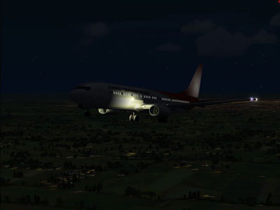 Shenzhen Boeing 737-900 at night