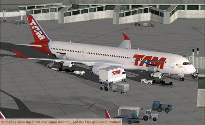TAM Airbus A350-900 XWB at terminal gate.